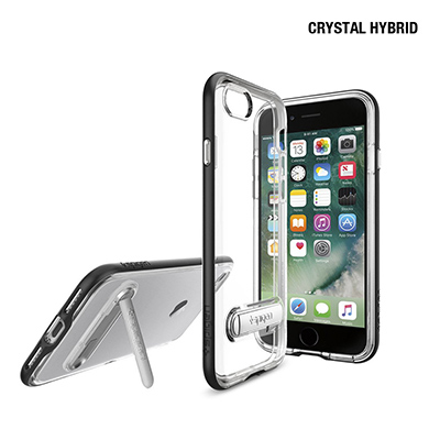 Spigen iphone 7 Crystal Hybrid 複合式立架邊框透明...