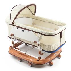 YSF 寶寶樂水平睡箱搖床 (加大加高款)淺咖啡