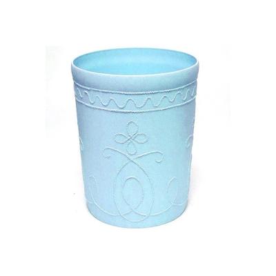 時尚花紋書報桶(藍色圓形2入)