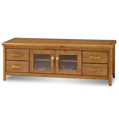 愛比家具 絲莉愛5尺柚木實木電視櫃