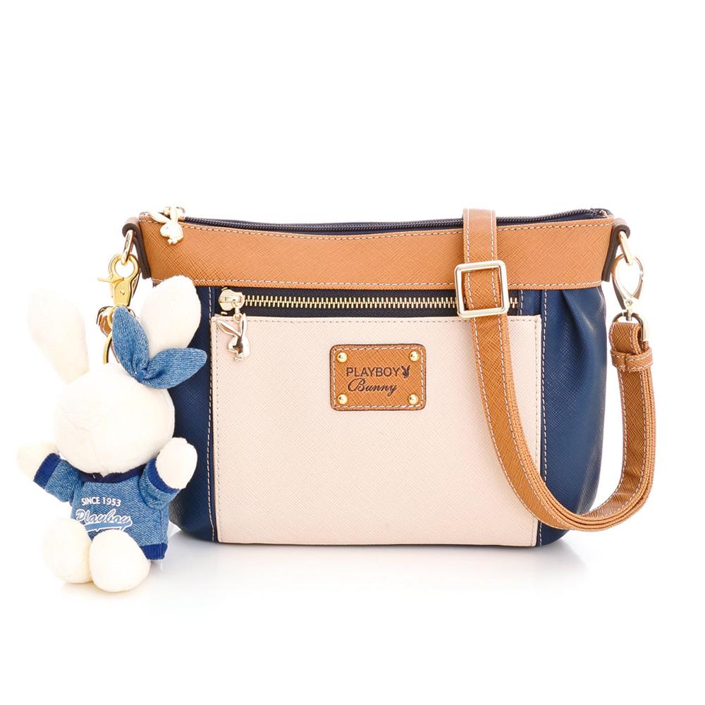 PLAYBOY-H- Hug Bunny 系列小斜背包-藍色