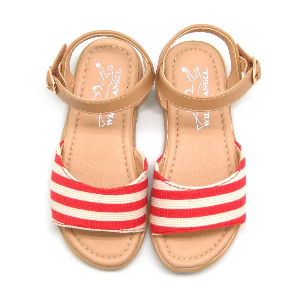 天使童鞋-D374 夏日海洋風涼鞋-俏麗紅