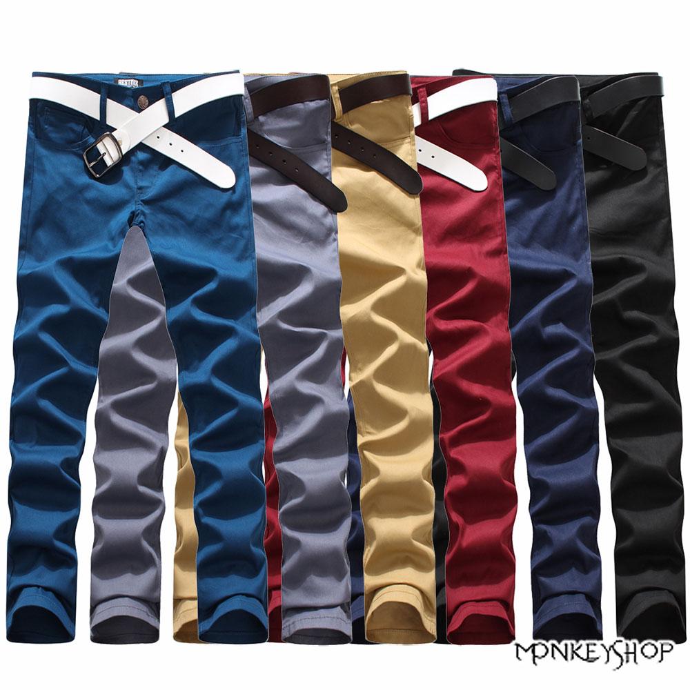 小猴子的賣場 韓版風格簡約素面休閒長褲-6色 有加大尺碼