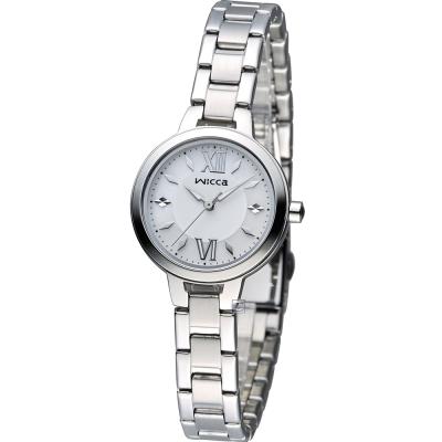 CITIZEN WICCA 英倫風優雅時尚腕錶(BG3-716-11)-銀/26mm