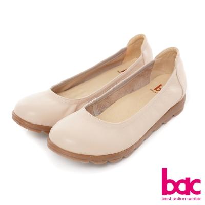 bac甜美履行-柔美色調圓頭舒適鞋-淺粉