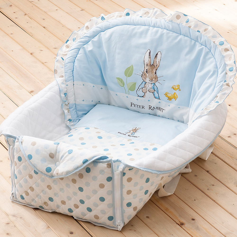 奇哥 花園比得兔攜帶型小床組-藍色