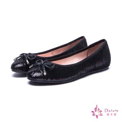 達芙妮DAPHNE-微甜少女璀璨亮片平底娃娃鞋-亮
