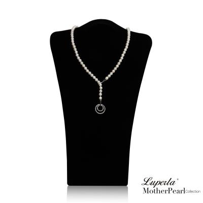 大東山珠寶  南洋貝寶珠7mm  多層次變化款項鍊 經典白 設計師旗艦版