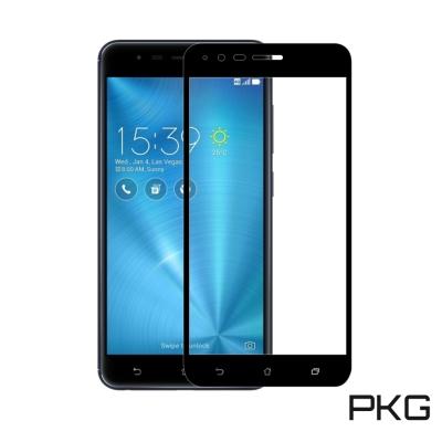 PKG ASUS Zenfone3 5.5吋 ZE552KL保護貼-全滿版玻璃-黑色面板