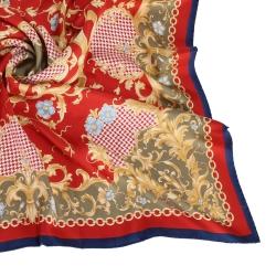 Christian Dior 巴洛克花式大領巾-紅