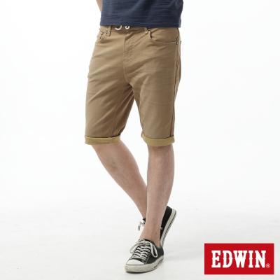 EDWIN 大尺碼迦績褲 舒適色褲短褲-男-卡其色