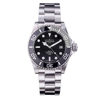 DAVOSA Ternos TT雙色陶瓷外圈自動排氦潛水專用錶-灰色/黑面/42mm