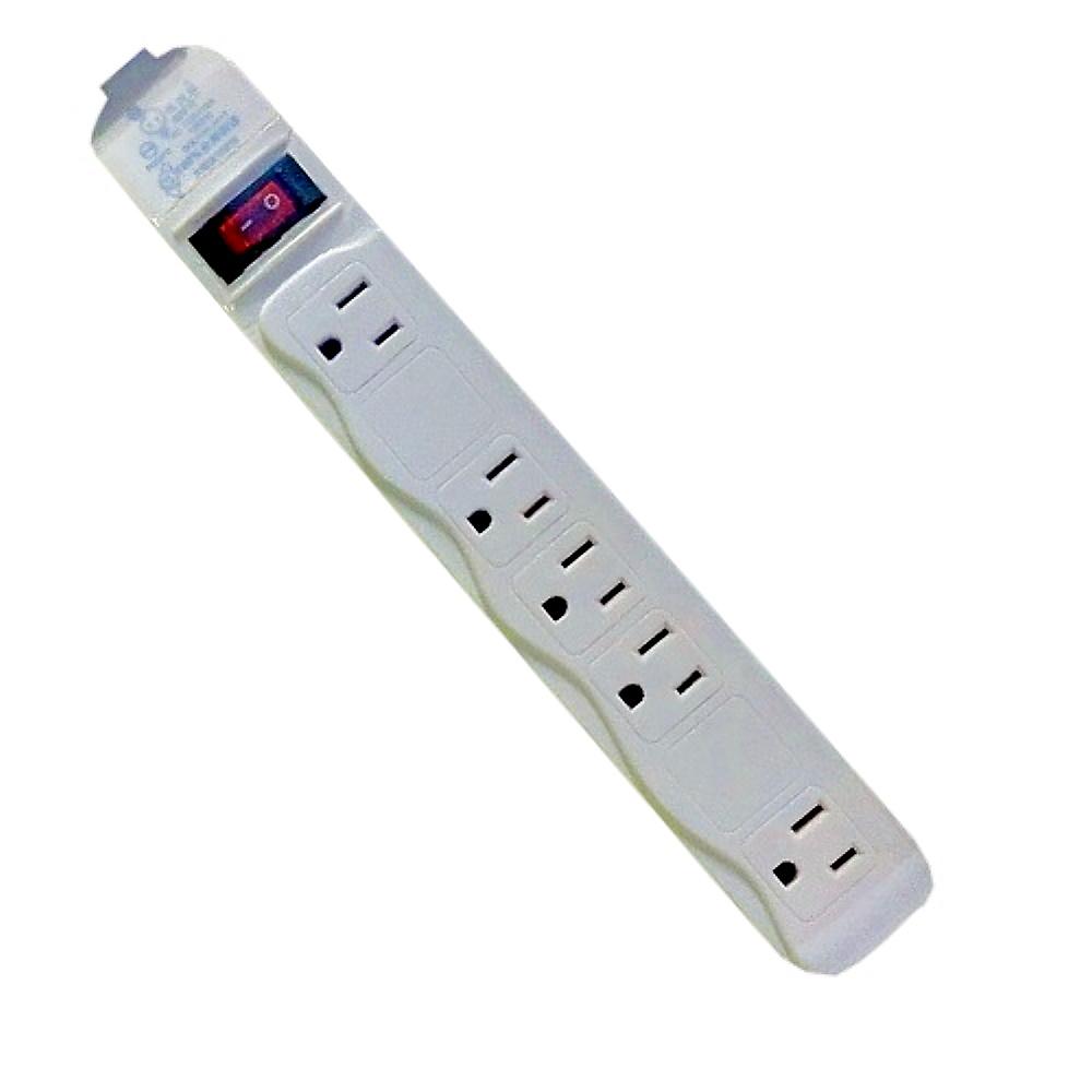 【電精靈】 單切平貼式3孔5座延長線 6尺(1.8米)