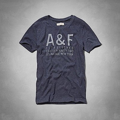 AF a&f Abercrombie & Fitch 女 短袖 T恤 藍 0793