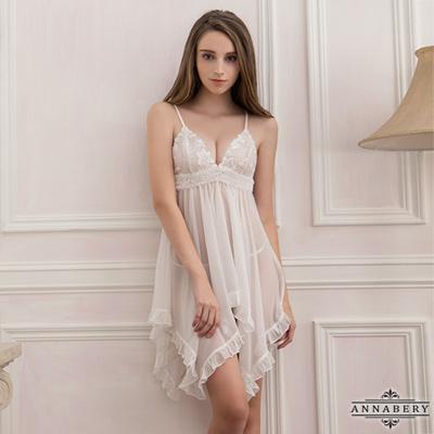 大尺碼 透視不規則裙襬二件式睡衣L-2L Annabery