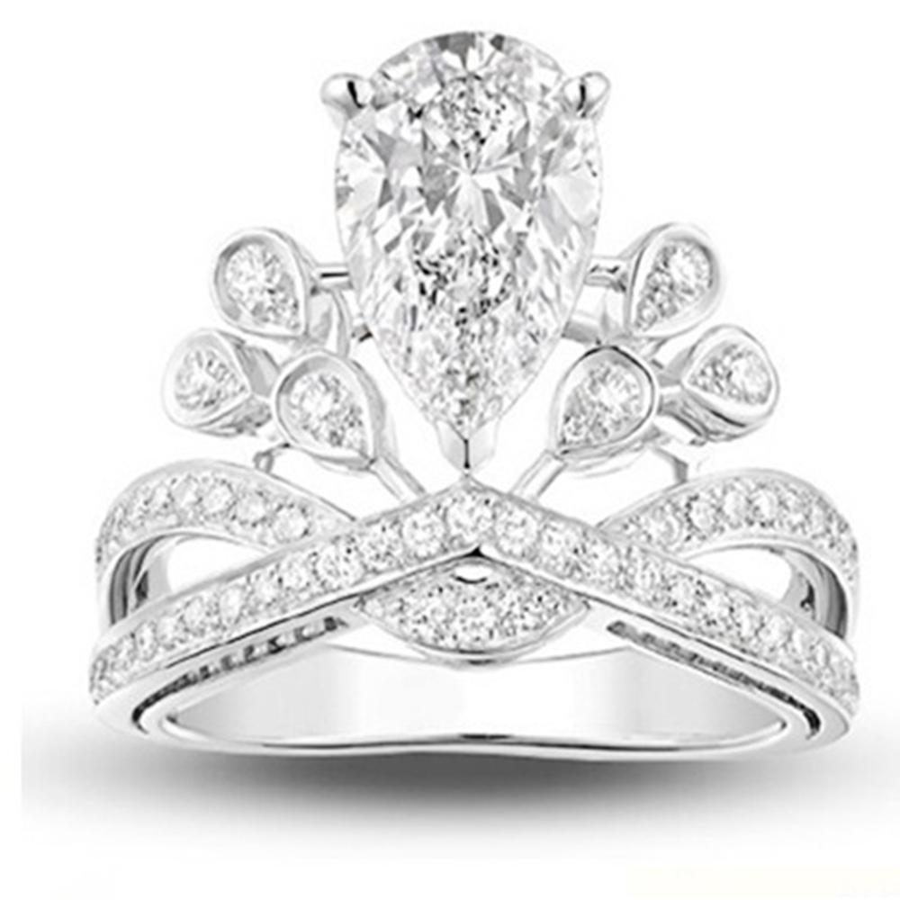 梨花HaNA 世紀婚禮為愛加冕ANGELA鴿子蛋鋯石皇冠戒