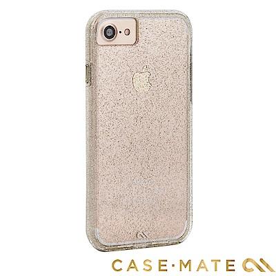 美國Case-Mate iPhone 8 Sheer Glam 透明亮粉雙層防摔...