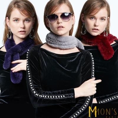 MONS-百搭兔毛小圍巾-共三色