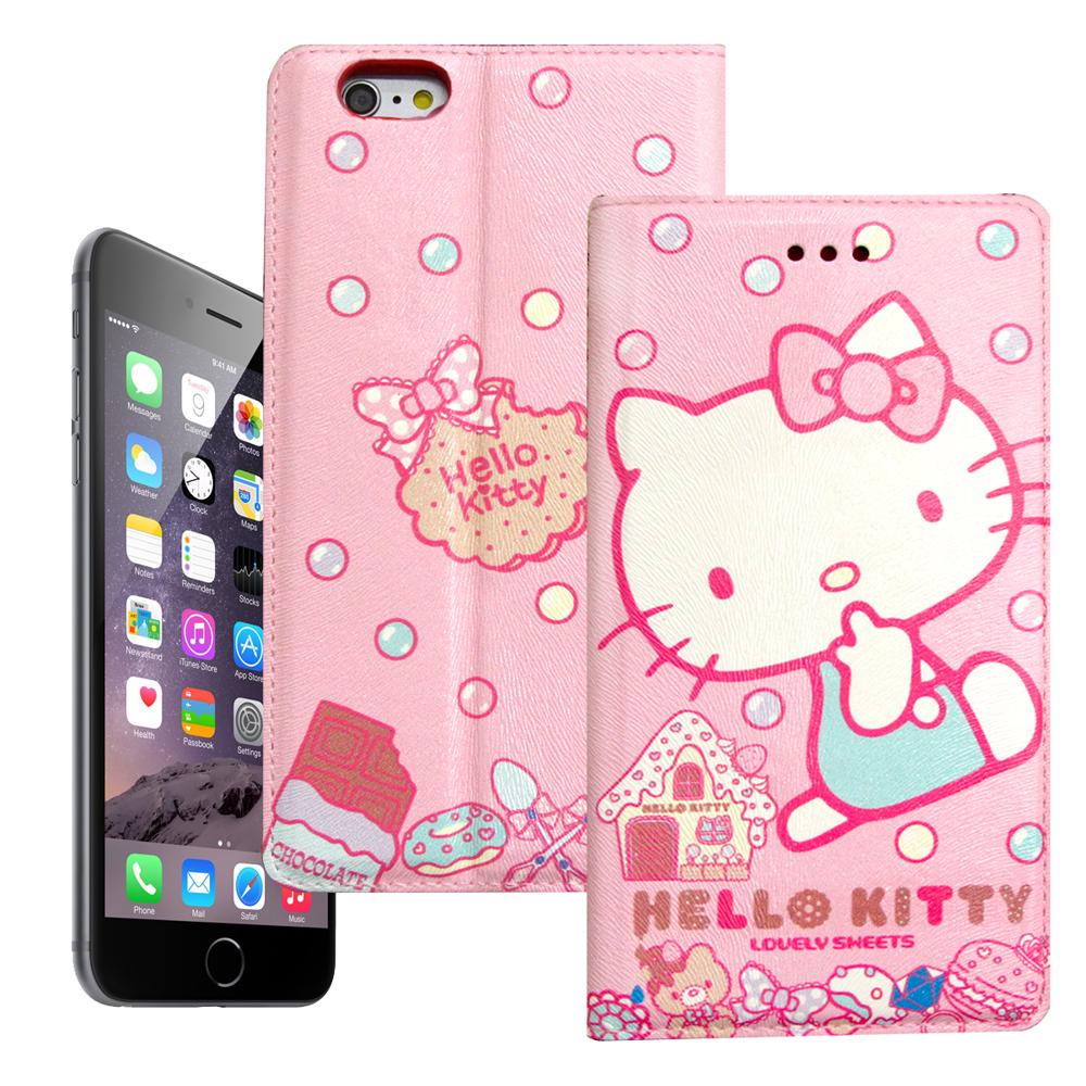 Hello Kitty iphone 6 6s彩繪磁力皮套甜點sweet