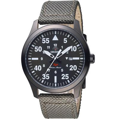 ORIENT 東方錶 SP系列 飛行運動石英錶-綠色/42mm
