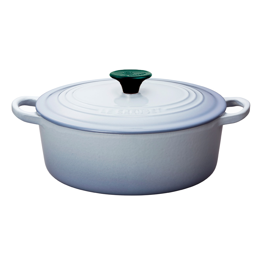 LE CREUSET 琺瑯鑄鐵橢圓鍋 27cm (海岸藍)