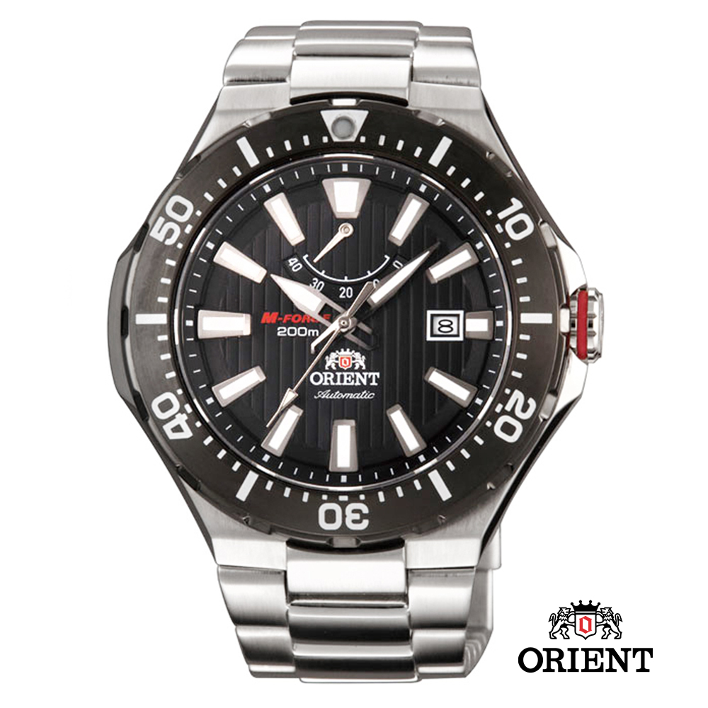 ORIENT東方錶 M-200m潛水機械錶-黑色/51mm