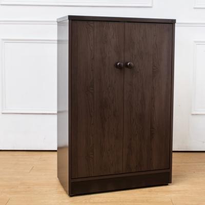 Birdie南亞塑鋼-2.2尺二門塑鋼鞋櫃(胡桃色)-66x34x104cm