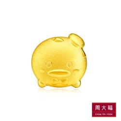 周大福 TSUM TSUM系列 唐老鴨黃金耳環(單支)