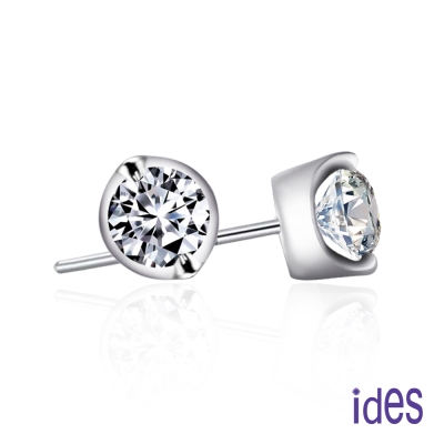 ides愛蒂思  精選1克拉E/SI1八心八箭完美車工鑽石耳環