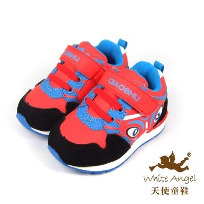 天使童鞋-50029 臉譜休閒運動鞋 (小童)-蕃茄紅