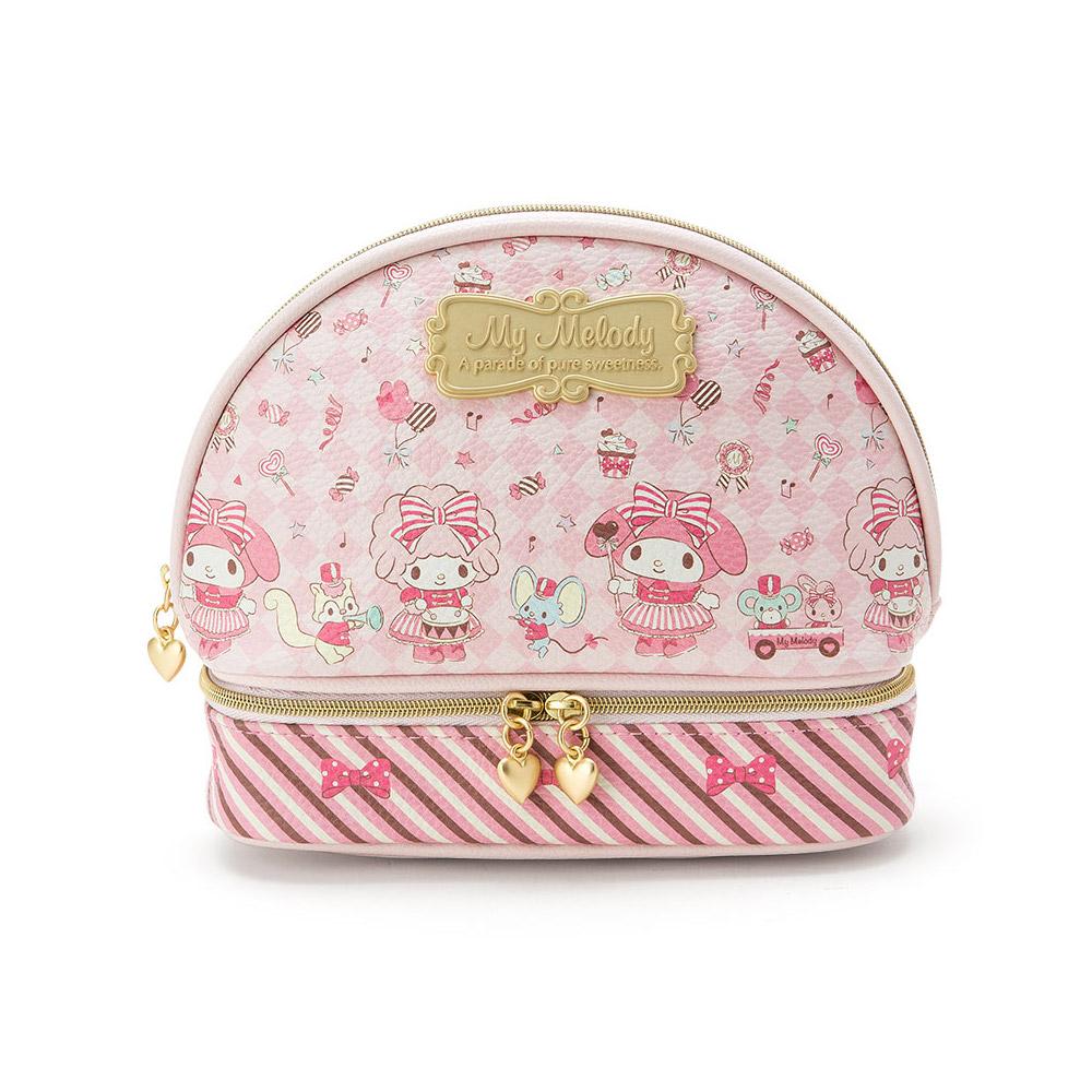 Sanrio 美樂蒂甜蜜遊行系列PU皮革雙隔層化妝包