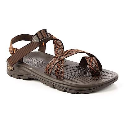 美國Chaco。男 冒險旅遊涼鞋-夾腳款 CH-EZM02HC51 (鋼筆線)