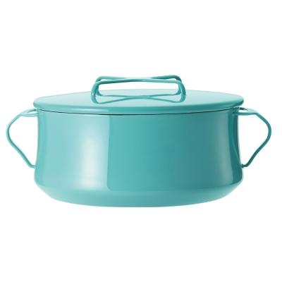 DANSK 琺瑯雙耳燉煮鍋-23cm(藍綠色)