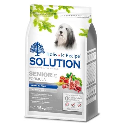 耐吉斯SOLUTION 高齡犬 關節保健配方 羊肉&田園蔬菜3KgX2包入