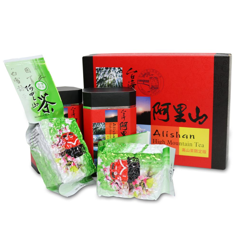 台灣茗茶 阿里山高山茶2入禮盒(附提袋)