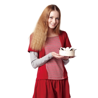 Gennie-s奇妮-休閒式條紋假兩件秋冬哺乳上衣