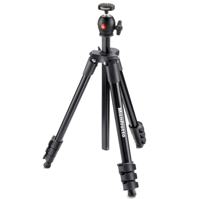 Manfrotto MKCOMPACTLT COMPACT系列五節腳架/131cm-黑色