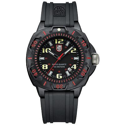 LUMINOX 海豹部隊前哨系列腕錶-黑x紅時標/43mm