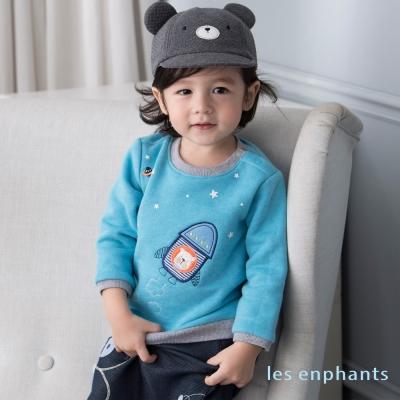les enphants baby太空熊宇宙火箭上衣 藍色
