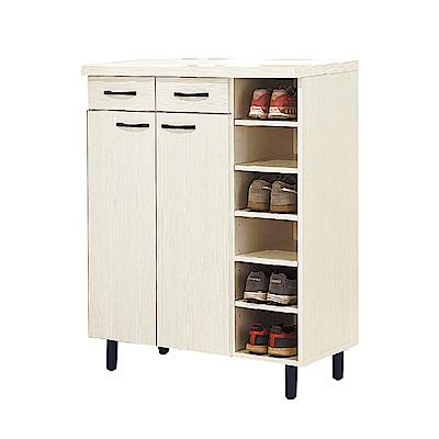品家居 瑪蒂娜2.9尺二門二抽鞋櫃(二色可選)-86x39.5x111cm免組
