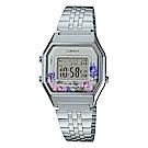 CASIO玫瑰花春樣氣息復古系列百搭時尚數位錶(LA-680WA-4C)淡粉28.6mm