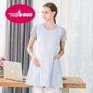 六甲村健康防護衣/雙面穿無袖圍裙/清爽藍