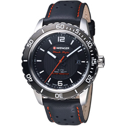 瑞士WENGER Roadster 黑夜騎士時尚腕錶(01.0851.120)黑/45mm