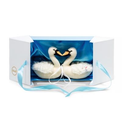 STEIFF德國金耳釦泰迪熊 - 限量版 - Wedding Swan Set