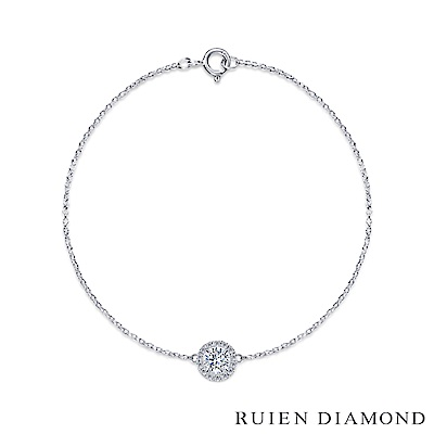 RUIEN DIAMOND 輕珠寶系列 10 分  14 K白金 鑽石手鍊