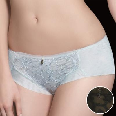 莎露 宮廷系列 刺繡蕾絲M-L平口褲(經典灰)