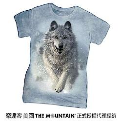 摩達客 美國進口The Mountain 雪狼開路 短袖女版T恤