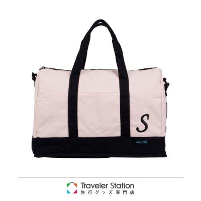 【HAPI+TAS 】簡約S字母摺疊旅行袋(小)-白色