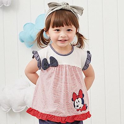 Disney baby米妮系列荷葉女孩圓領上衣 (2色可選)