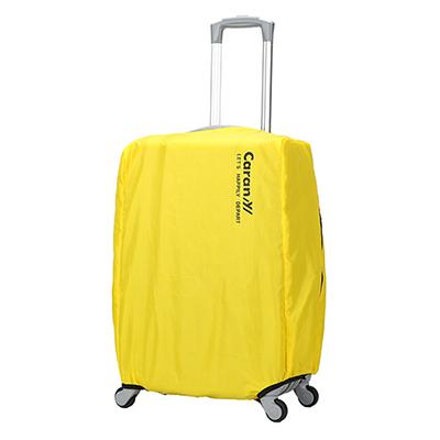 CARANY 卡拉羊 旅行箱箱套 防雨罩 保護罩 炫彩防塵套(黃/24吋)58-0033B